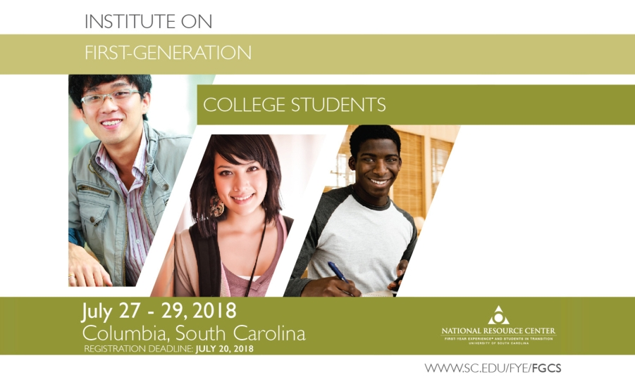 2018 Institute on First-Generation College Students