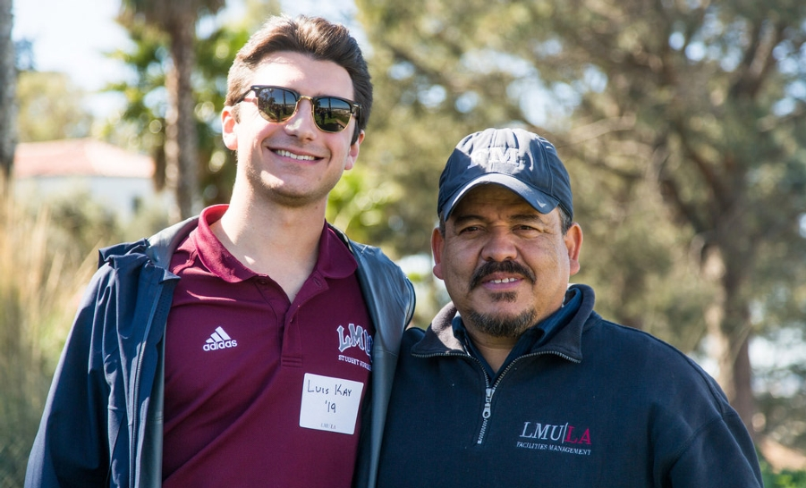 LMU Student and Facilities Worker