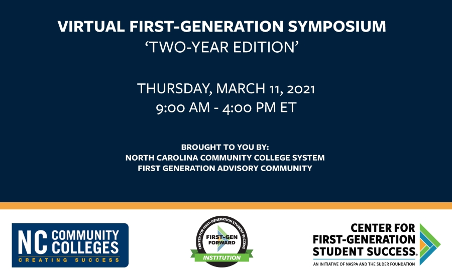 NCCCS Virtual First-Generation Symposium